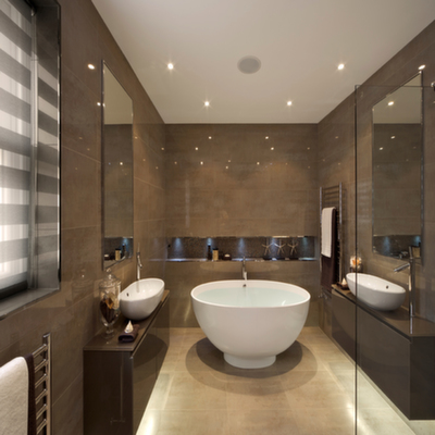 Deep Modern Soaking Tub